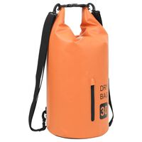 vidaXL Drybag met rits 30 L PVC oranje