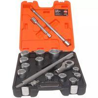 BAHCO Dopsleutelset 3/4 inch 17-delig  SLX 17