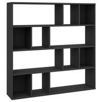vidaXL Kamerscherm/boekenkast 110x24x110 cm spaanplaat zwart