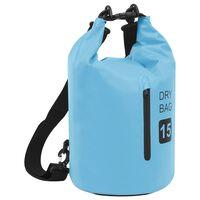 vidaXL Drybag met rits 15 L PVC blauw