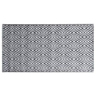 vidaXL Buitenkleed 120x180 cm PP wit en zwart