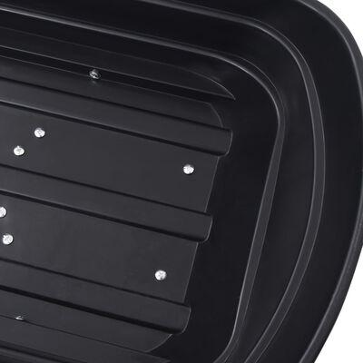vidaXL Tuinkiepwagen 300 kg 75 L zwart