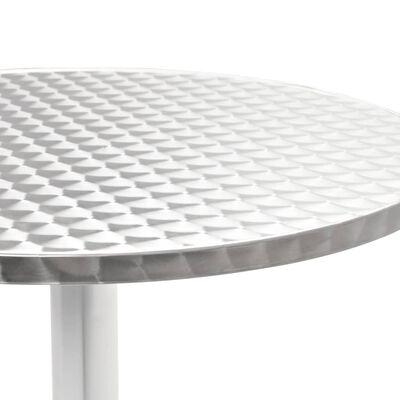 vidaXL Tuintafel 60x70 cm aluminium zilverkleurig