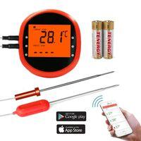 Slimme draadloze frituurthermometer met 2 sensoren