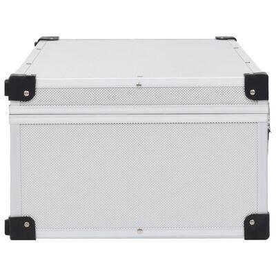vidaXL Cd-koffer voor 80 cd's aluminium ABS zilverkleurig
