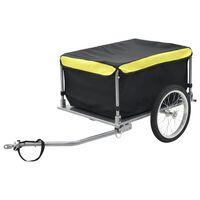 vidaXL Fietskar 65 kg zwart en geel