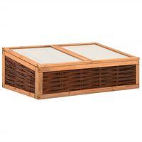 vidaXL Broeikas 120x80x45 cm massief grenenhout en wilg