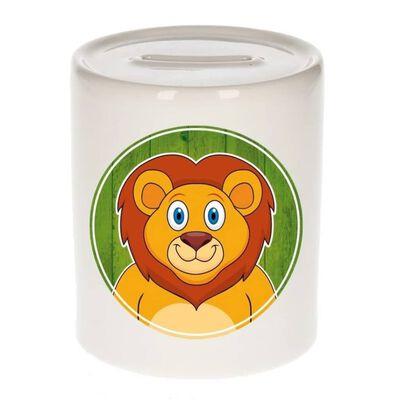 Vrolijke leeuw dieren spaarpot 9 cm - leeuwen - spaarpotten voor