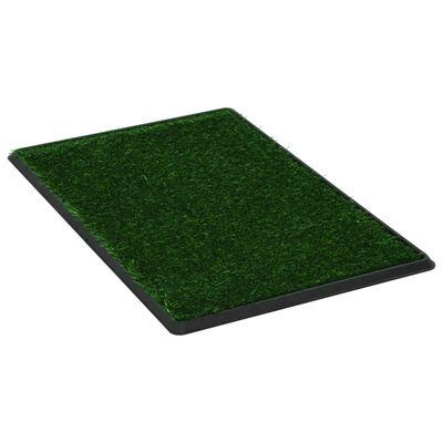 vidaXL Huisdierentoiletten 2 st met bak en kunstgras 76x51x3 cm groen