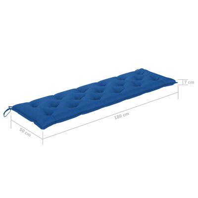 vidaXL Tuinbankkussen 180x50x7 cm stof blauw