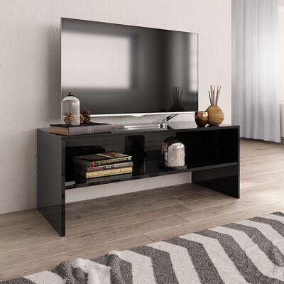 vidaXL Tv-meubel 100x40x40 cm spaanplaat hoogglans zwart