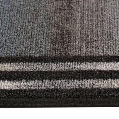 vidaXL Tapijtloper met gelbodem 67x200 cm zwart