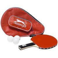 Tafeltennis/Ping Pong batje met 3 ballen in opbergtas - Pingpong
