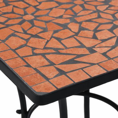 vidaXL 3-delige Bistroset mozaïek keramische tegel terracottakleurig