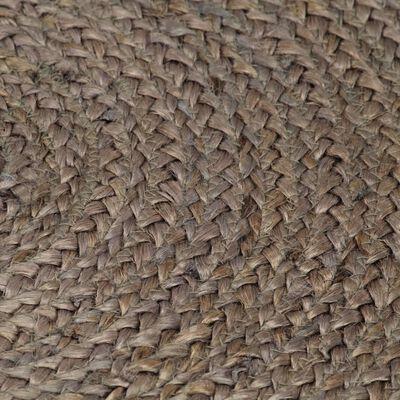 vidaXL Vloerkleed handgemaakt rond 120 cm jute grijs