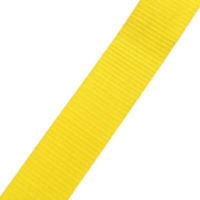 vidaXL Slackline 15 m x 50 mm 150 kg geel
