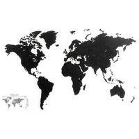 MiMi Innovations Wereldkaart muurdecoratie Luxury 100x60 cm zwart
