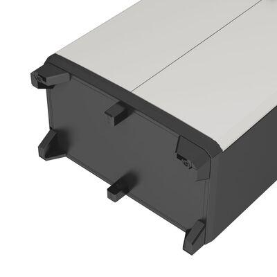 Keter Opbergkast laag Gear 97 cm zwart en grijs