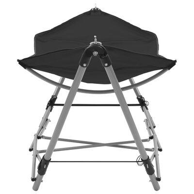 vidaXL Hangmat met inklapbare standaard zwart