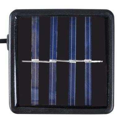 Ronde kunstbuxus 27 cm met solar LED-verlichting (2 stuks)