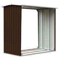 vidaXL Haardhoutschuur 172x91x154 cm gegalvaniseerd staal bruin
