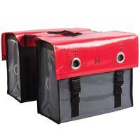 Willex Fietstas 52 L tarpaulin rood en donkergrijs