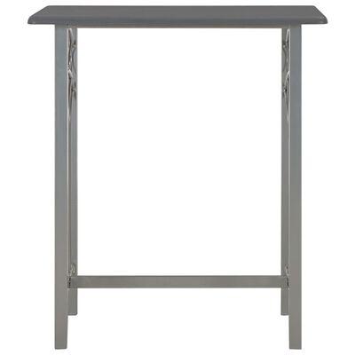 vidaXL 3-delige Barset hout en staal antraciet