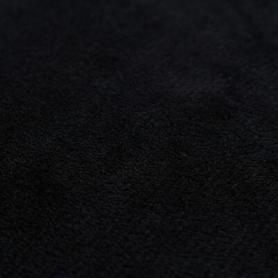 vidaXL Sierkussenhoezen 80x80 cm velours zwart 4 st