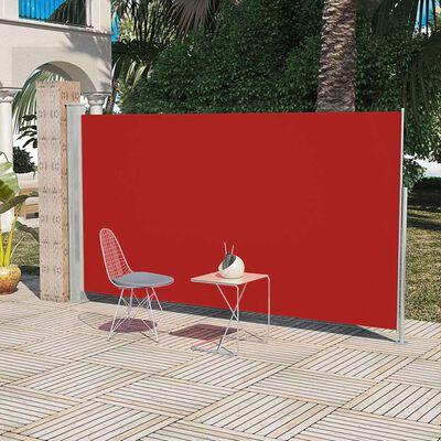 vidaXL Wind-/zonnescherm uittrekbaar 160x300 cm rood