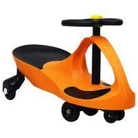 vidaXL Loopauto wiebelend met toeter oranje