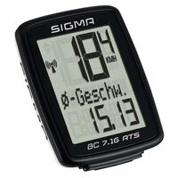 Sigma Fietscomputer BC 7.16 ATS zwart 7162