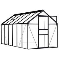 vidaXL Broeikas 7,03 m² aluminium antraciet