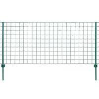 vidaXL Euro hek 20x1,5 m staal groen