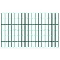vidaXL Dubbelstaafmatten 2,008x1,23 m 44 m (totale lengte) groen