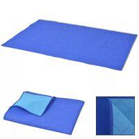 vidaXL Picknickkleed 100x150 cm blauw en lichtblauw