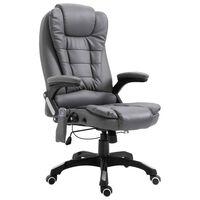 vidaXL Massage kantoorstoel kunstleer antraciet