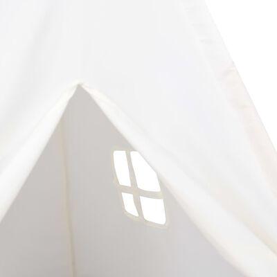 vidaXL Kindertipitent met tas 120x120x150 cm peachskin wit
