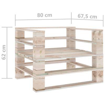 vidaXL Tuinbank pallet geïmpregneerd grenenhouten