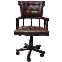 vidaXL Bureaustoel draaibaar bruin