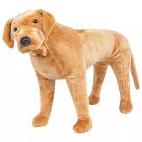 vidaXL Speelgoedhond labrador staand XXL pluche lichtbruin