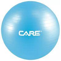 Care Fitness fitnessbal 65 cm blauw