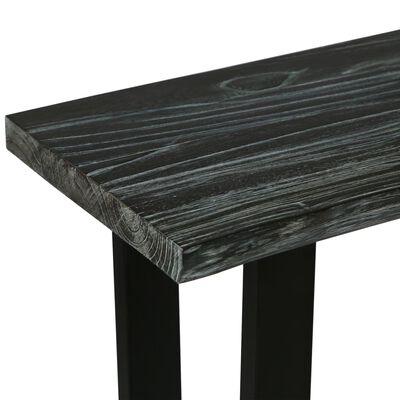 vidaXL Wandtafel 110x35x75 cm massief mindihout grijs