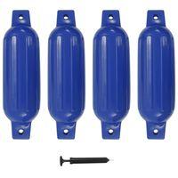vidaXL Bootstootkussens 4 st 41x11,5 cm PVC blauw