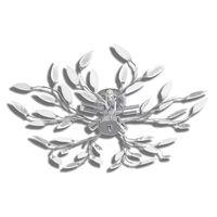 vidaXL Plafondlamp met kristallen bladeren van acryl 5xE14 wit