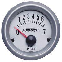 AutoStyle oliedrukmeter met sensor 52 mm 12 Volt zilver