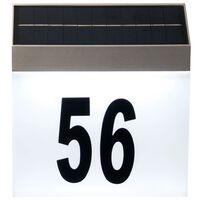 Luxform Huisnummerlicht met LED solar Cornwall wit 34106