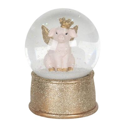 Sneeuwbol   Ø 10*13 cm   Goudkleurig   Polyresin / glas   rond  