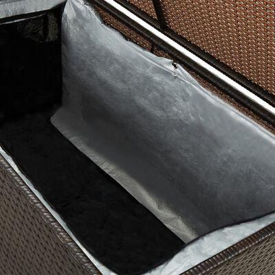 vidaXL Tuinbox 100x50x50 cm poly rattan bruin