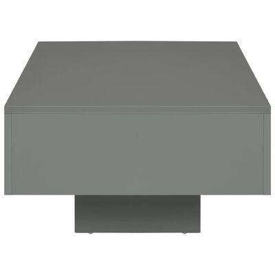 vidaXL Salontafel 115x55x31 cm MDF hoogglans grijs