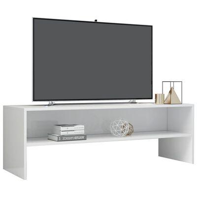 vidaXL Tv-meubel 120x40x40 cm spaanplaat hoogglans wit